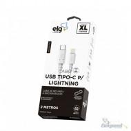 Cabo USB Tipo-C Para Lightning de Recarga e Sincronização - Branco - TCL20 2 metros